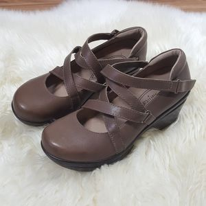 Sanita Neve Leather Mary Jane Clog Size 37